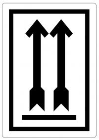 """Handling etiket """"Deze zijde boven"""" (type 2)"""