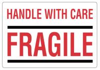 "Handling etiket ""Fragile"""