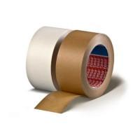 Papieren verpakkingstape wit 50mm x 50 meter