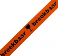 Waarschuwingstape PP Breekbaar (oranje/zwart)