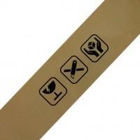 Waarschuwingstape PP met logo's 75mm